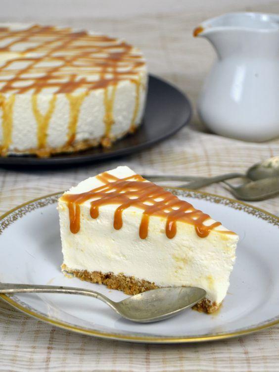 receta tarta de queso fria con leche condensada