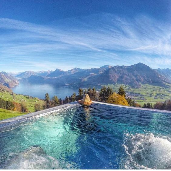 Best Hotel In Switzerland With Infinity Pool 25 Best Hotel Swimming Pools In The World Travel Den Hotel Villa Honegg Hotel Villa Honegg Switzerland Villa Honegg