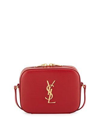 yves saint laurent mens wallets - Yves Saint Laurent Monogram Camera Small Calf Crossbody Bag, Red ...