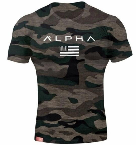 Men/'s Camouflage Printed T-shirts Tops Short Sleeve Basic Tee O Neck Casual Gym