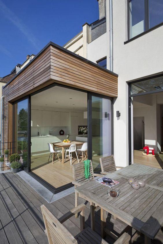 en images un projet de r novation contemporain cach derri re la fa ade d 39 une maison de ma tre. Black Bedroom Furniture Sets. Home Design Ideas