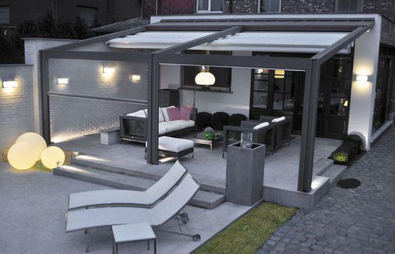 auvent de terrasse en aluminium pour votre espace ext rieur design recherche et pergolas. Black Bedroom Furniture Sets. Home Design Ideas