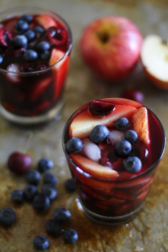 Cherry Blueberry Apple Sangria Recipe:  It's the weekends and we're drankaaaaang! I've been saving my drink allowance for weekends now that I'm (trying to be) a responsible ah-dult. Which ...