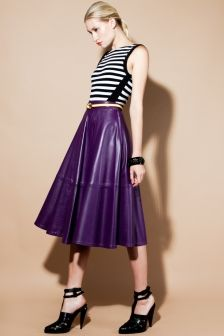 Vintage Buttery Soft Purple Leather Swing Skirt http ...