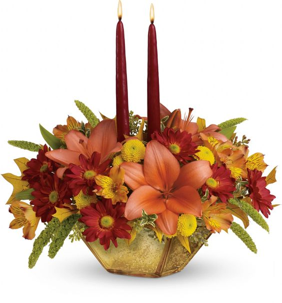 Thanksgiving Centerpiece Ftd : Autumn families and flower on pinterest