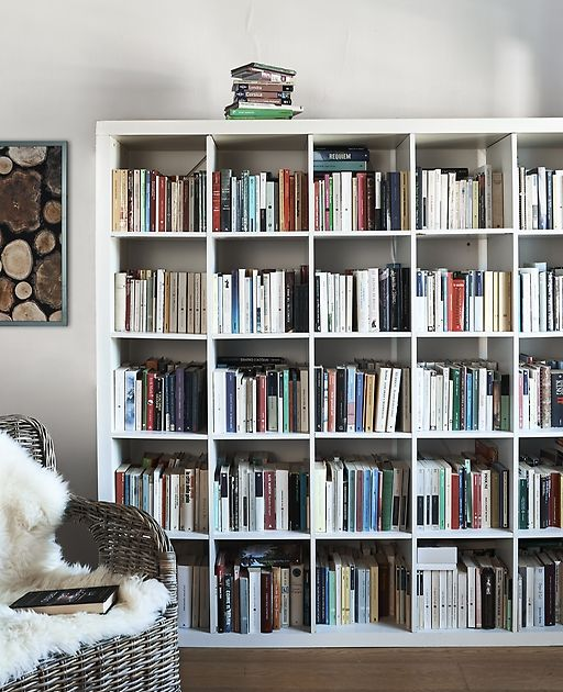 Create A Home Library In Your Kallax Storage Unit Find Ideas For