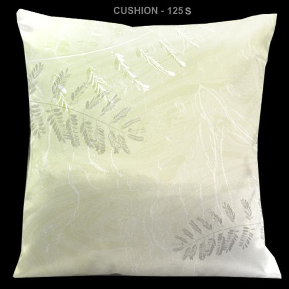 "Lama Kasso Impressions Green and White 18"" Square Micro-Suede Pillow - 125S"