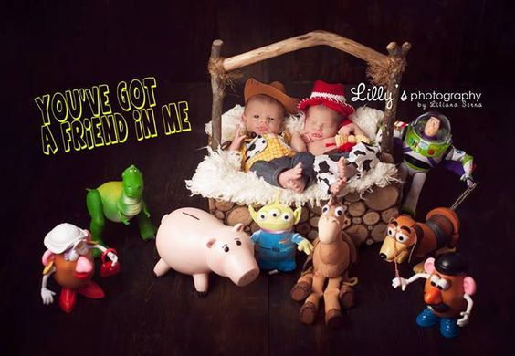 Orlando newborn photography disney toy story inspired with pets and dog newborn sessions pinterest newborn photography and photography