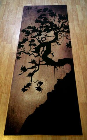 this is a yoga mat but i would totally hang this on my wall. ....cool yoga mat!