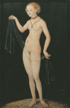 LUCAS CRANACH THE ELDER -   Venus,   1532 -   Mixed technique on beechwood