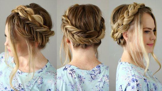 Mixed Dutch and Fishtail Crown Braid | Summer Series | Missy Sue