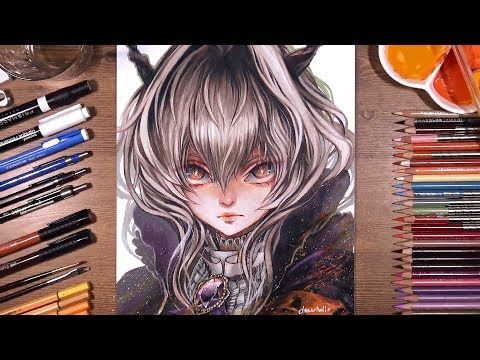 Arknights Talulah Speed Drawing Drawholic Youtube Color Pencil Illustration Drawings Pencil Illustration