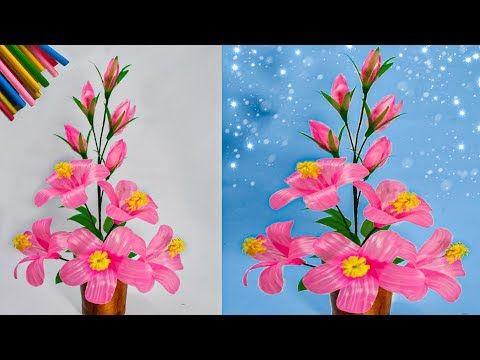 Cara Membuat Bunga Hiasan Ruang Tamu Dari Sedotan Kreatif Straws