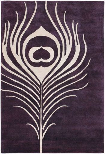 Thomas Paul Feather Plum-Cream Rug from the Thomas Paul Rugs collection at Modern Area Rugs