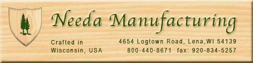 Needa Manufacturing - Quality unfinished pine plaques and other wood products for crafting, awards, and other needs