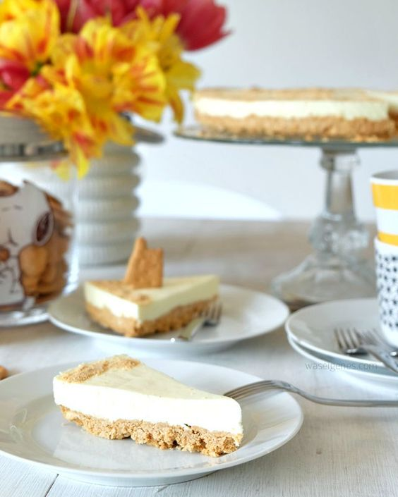 rezept no bake philadelphia torte mit butterkeksboden streichk se creme und obstkuchen. Black Bedroom Furniture Sets. Home Design Ideas