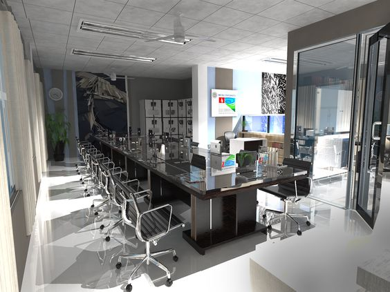 Office / Vray / Render / Sketchup / Architecture / Interior Design |  Architectural Renders | Pinterest