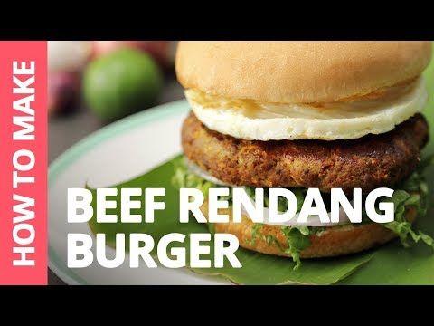 How To Make Beef Rendang Burger Recipe By Plated Asia Youtube Resep Makanan Resep Burger Nasi Lemak
