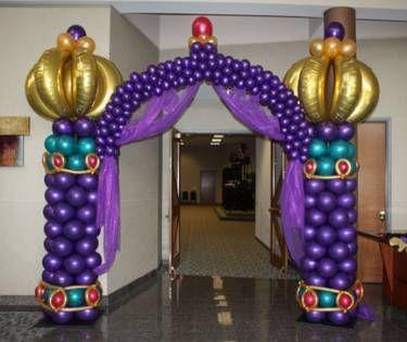 Arte en globos para fiesta árabe: