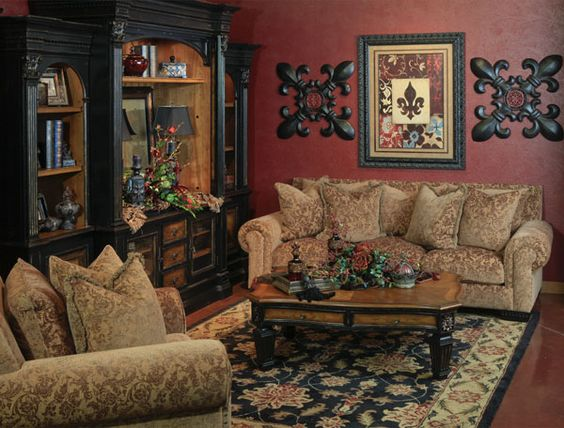 Colors wall colors and the o 39 jays on pinterest - Tuscan inspired living room furniture ...