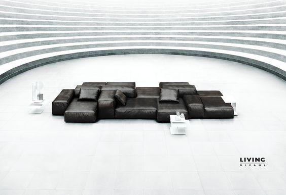 Living Divani 2015/1016 Piero Lissoni, Extrasoft modular sofa