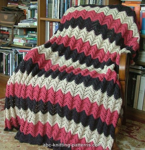 Abc Knitting Patterns Lace Ripple Afghan : Ripple afghan, Afghans and Lace on Pinterest