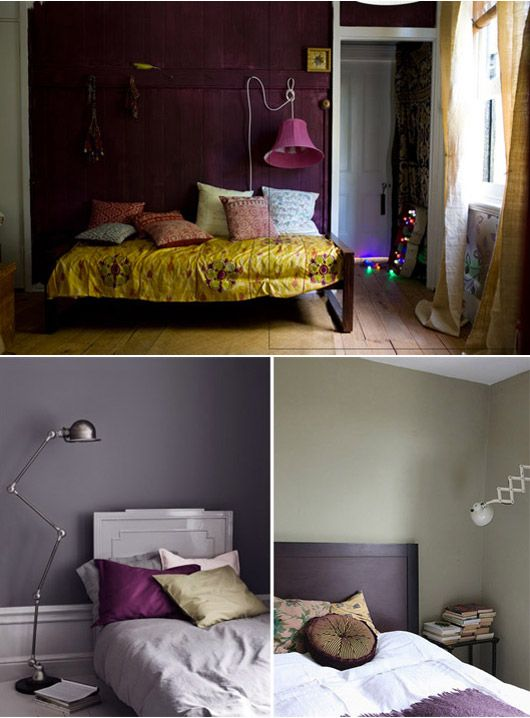 Purple Wall Bedroom Decor: Day Bed, The Purple And Purple Walls On Pinterest