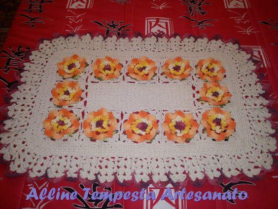 Alline Tempesta Artesanatos: Tapete em crochê