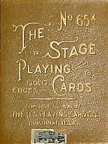 Nombre (Deck):Stage No.65. País (Country): USA. Fabricante (Made ): ThUSPCC. (Date):1.896. BARAJA ORIGINAL. ORIGINAL CARDS