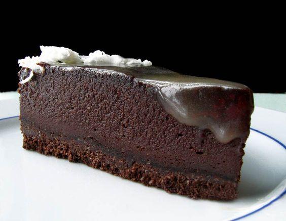 Cheesecake au chocolat et caramel (végétalien)
