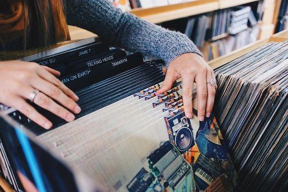 une #collection de #disques #vinyles