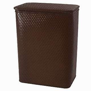 Chelsea Collection Decorator Color Wicker Hamper ESPRESSO by Redmon. $46.00. Over two and a half cubic feet of capacity.. Hand crafted for quality, durability, and reliability.. High gloss enamel.. The Chelsea Collection is another favorite of the Redmon line of fine products. This collection incorporates a familiar pattern of machine woven wicker with the well-known Redmon quality of workmanship and style.