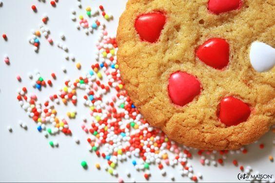 La préparation pour les vrais cookies américains