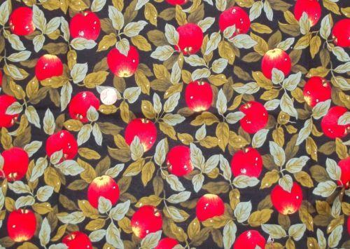 "Apple Fabric, 42"" x 16"" piece $4.25"