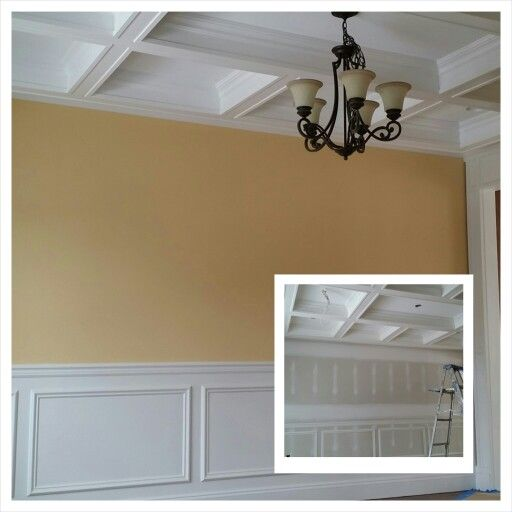 Before And After In This Formal Dining Room We Painted The Walls With Benjamin Moore 39 S Straw