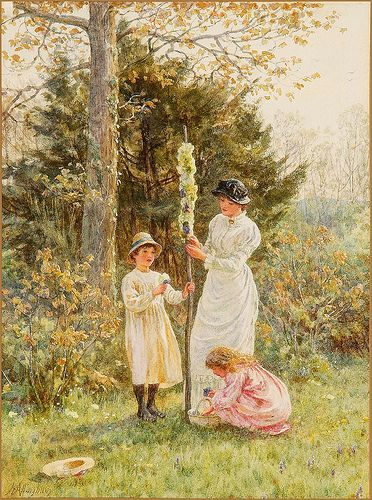 Watercolour, Children and The victorian on Pinterest
