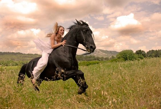 Would love to come in on horseback
