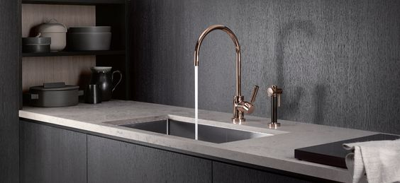 FAUCET: DORNBRACHT: ROSE GOLD! Cyprum / Kitchen / Kitchen fitting / Dornbracht