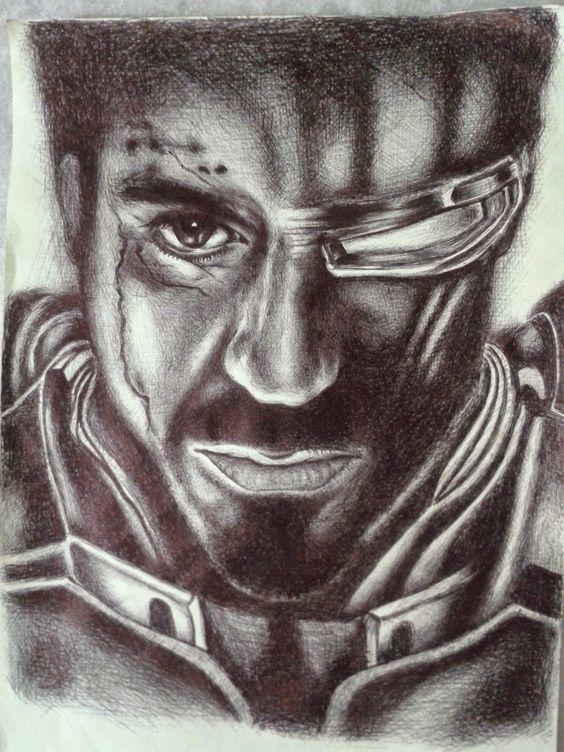 Iron Man feito com caneta esferográfica http://alma-de-tinta.blogspot.com.br/ https://www.youtube.com/watch?v=PKZ6GsWK1r8