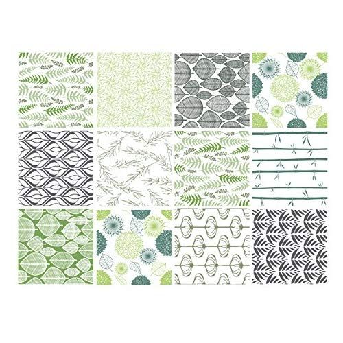 Adhesif Carrelage Sticker Carreaux De Ciment Natur Green Vert
