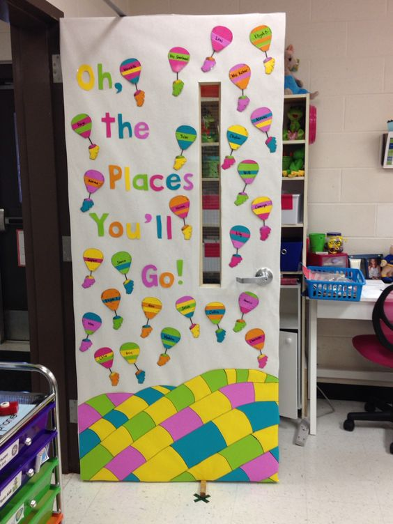 Preschool Classroom Door Decoration ~ Oh the places you ll go classroom door