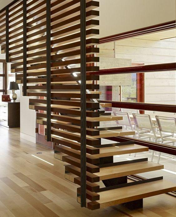 Treppengeländer Holz Katalog ~ treppengeländer Raumteiler Ideen aus Holz design raumteiler treppe