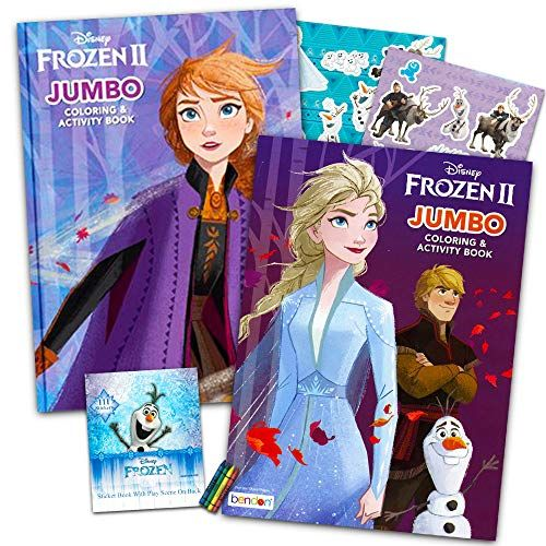 Disney Frozen 2 Coloring Book Set With Over 100 Stickers Bundle Includes 2 Frozen Coloring Books Disney Frozen Coloring Disney Frozen Frozen Dolls