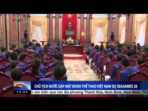 Chủ tịch nước Trương Tấn Sang gặp mặt ĐTTVN dự SEA Games 28