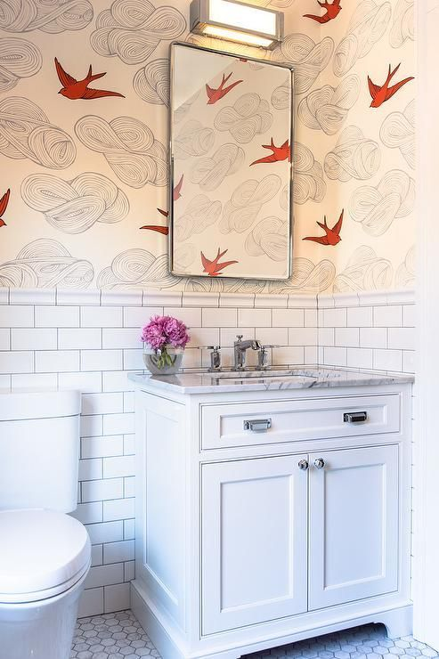 Hygge West Daydream Wallpaper Covers The Upper Wall Of A