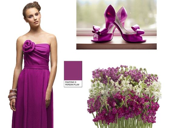 PERSIAN PLUM BRIDESMAID : PANTONE WEDDING Styleboard : The Dessy Group