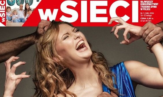 Muslims and liberals are outraged over this magazine cover that just came out on Poland.