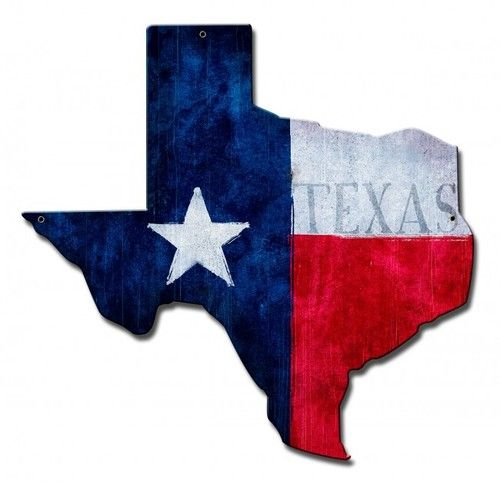 Texas State Flag Metal Sign 15 X 15 Inches Texas Flags Texas State Flag Garage Art