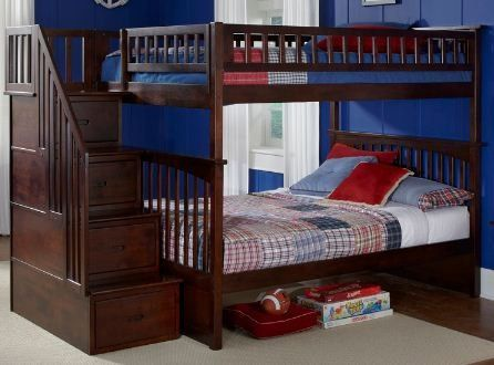 Columbia Staircase Bunk Bed with Storage | Wayfair