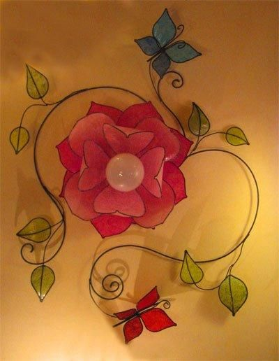 I found 'Custom Made Italian Pink Rose Butterfly Wall Lamp' on Wish, check it out!